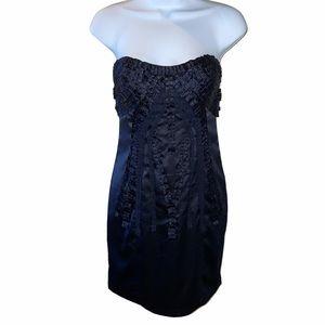 Vintage Y2K bebe ribbon corset dress in navy